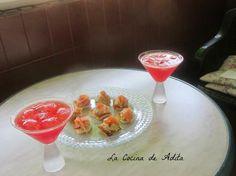 Coctel de frutas, con canapés de aguacate y bonito - Tvcocina . Recetas de Cocina Gourmet Restaurantes Vinos Vídeos
