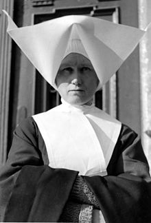 Polish nun wearing a white cornette and habit in 1939: Religious habit - Wikipedia, the free encyclopedia