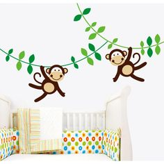 Wall decals - TheWonderwalls® | Removable Happy Monkeys Wall Stickers