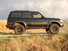 My 1996 miles 3 inch ome heavy coils 315 Falcon AT's Nitro gears Factory locked Home made bumpers and sliders Snorkel Stock rack. Toyota Lc, Toyota Trucks, 4x4 Trucks, Land Cruiser Fj80, Toyota Land Cruiser 100, 4x4 Off Road, Rally Car, Future Car, Offroad