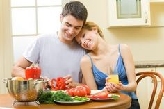 Cook a meal together at home. Great stay-in date night Healthy Food Choices, Good Healthy Recipes, Raw Food Recipes, Raw Food Diet Plan, How To Increase Fertility, Fertility Diet, Best Diets, Diet And Nutrition, Natural Health