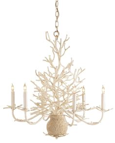 Seaward Coral Shaped Chandelier from Currey & Co.