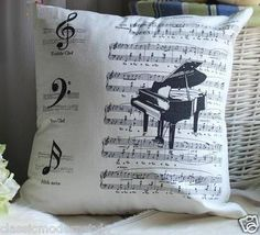 Music Note Cushion Cover Home Decor