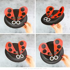 Easy paper plate Ladybug Craft for kids to make this Spring. A simple craft for kids that's perfect for bug or mini-beast topic. Spring Art Projects, Spring Crafts For Kids, Crafts For Kids To Make, Kids Crafts, Summer Crafts, Diy Projects, Toilet Paper Crafts, Paper Plate Crafts For Kids, Easy Arts And Crafts
