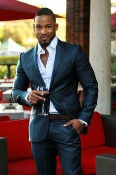 Online Shop Latest Coat Pant Designs Black Men Suit Casual Stylish Wedding Suit High quality Custom Made Men Tuxedo 2 Pieces Masculino S Men In Black, Gorgeous Black Men, Handsome Black Men, Beautiful, Sharp Dressed Man, Well Dressed Men, Mode Masculine, Mens Fashion Suits, Mens Suits