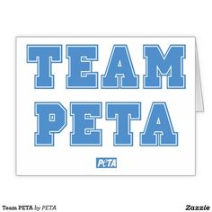 Team PETA Greeting Card