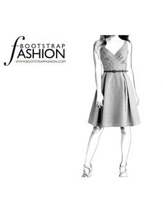 Fashion Designer Sewing Patterns - Flirty Flutter Cap Sleeves Dress