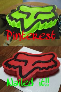 Found the green fox logo cake on someone's Pinterest board and decided to give it a go as first time cake decorator. What do you think - Fail or Nailed?