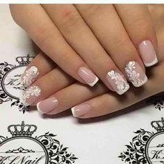 White design nail art  best one for day light