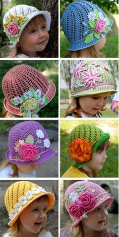 New Crochet Hat Patterns Free Cloche Yarns Ideas Bonnet Crochet, Crochet Beanie Pattern, Crochet Patterns, Hat Patterns, Romper Pattern, Knitting Patterns, Baby Girl Crochet, Crochet Baby Hats, Baby Knitting