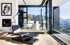 Sanctuary House in Cape Town by SAOTA - Home Design, Interior Design Ideas, Architecture House Plans South Africa, Revit, Coastal House Plans, Modern Villa Design, Interior Architecture, Interior Design, Level Homes, House And Home Magazine, Luxury Living