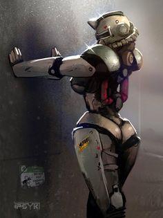 Power Armour I can get behind - iFunny :) Game Character, Character Concept, Concept Art, Character Design, Fallout Art, Fallout New Vegas, Warframe Art, Rainbow Six Siege Art, Robot Girl