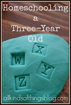 Homeschooling a Three-Year Old: Homeschool Pre-school http://www.allkindsofthingsblog.com/2015/03/homeschool-preschool-three-year-old.html