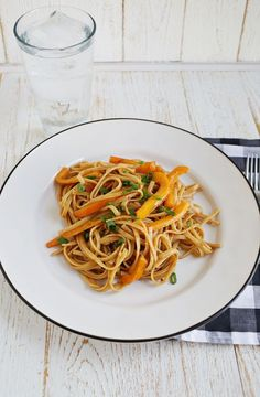Spicy peanut noodles  These are so easy, fast & delicious!