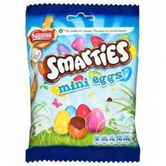 Smarties mini eggs, what a perfect combination. Roll on Easter! Cadbury Milk Chocolate, Chocolate Sweets, Easter Chocolate, Mini Eggs, Snack Recipes, Snacks, 70th Birthday, Bake Sale, Pop Tarts