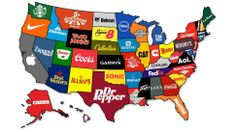 Neat [INFOGRAPHIC] -> What the Most Famous Brands Are from Each State