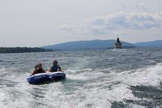 Nothing beats boating on Lake George on a Sunny Day