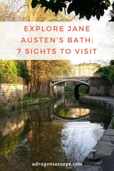 Bath was once an enchanting Georgian hub and the setting of two Jane Austen novels. To explore Jane Austen's Bath, visit these 7 sights. Beautiful Places To Visit, Cool Places To Visit, Jane Austen Bath, Study Abroad London, Australia Tourism, South Australia, Western Australia, Sydney Gardens, Walk In Bath