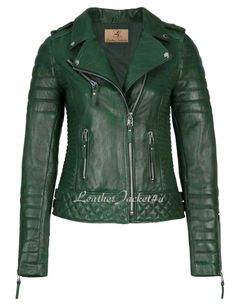 Women Stylish Lambskin Genuine Leather Motorcycle Biker Jacket Green | Clothing, Shoes & Accessories, Women's Clothing, Coats & Jackets | eBay!