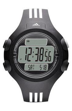 Men's adidas Performance 'Questra XL' Rubber Strap Watch