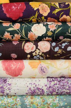 Some of my favorites; Nani Iro double-gauze cotton by Naomi Ito.
