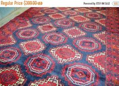 40% OFF SALE Antique Sarouq Turkman Carpet by TEKKARUG on Etsy