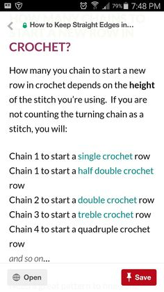 Keeping straight edges for crochet.  Don't count the chain as the first stitch.
