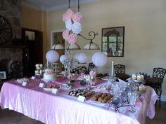 Pink bridal shower decor  wedding