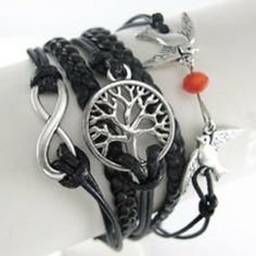 Hot Momma bracelets Infinity Tree of Life Doves w/Pearl. Starting at $1 on Tophatter.com!