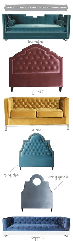 Gem-Inspired Upholstered Furniture by My Chic Nest
