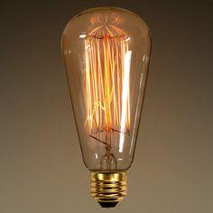 40W - Vintage Antique Light Bulb - Edison Style