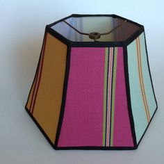 See You in the Stacks: Luxury Colorful Retro Lamp Shade