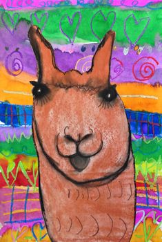 MaryMaking: Llamas with Peruvian Textiles South America Art Lessons For Kids, Art For Kids, Art Classroom, Classroom Ideas, Future Classroom, Classroom Activities, Art Therapy Activities, Music Activities, Llama Arts