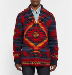 Polo Ralph Lauren Patterned Wool-Blend Cardigan