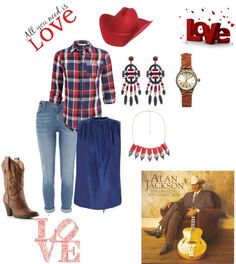 """""""Cowgirl/alan Jackson"""" by suntanbabe on Polyvore"""