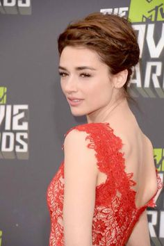Crystal Reed in the perfect red dress