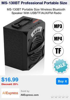 MS-130BT Professional Portable Size Wireless Bluetooth Speaker Heavy Stereo Bass Speaker With USB/TF/AUX/FM Radio * Pub Date: 16:13 Apr 18 2017