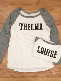 ad07dd73 Thelma and Louise Long sleeve shirt Baseball Tops, Happy Hippie, Cute Tops,  Bff