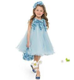Blue Rosette Infant Dress