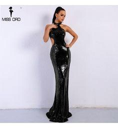 9930eb12d Vestido Longo Miss Ord Preto Cintura Alta De Paetê - Compre Agora | Shopping  City - Seu estilo o que Importa !
