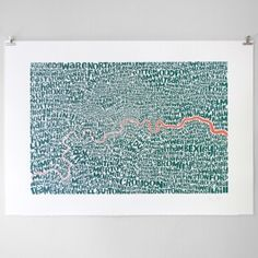 Greater London, Typographic Map, 70 x Greater London Map, City Maps, Affordable Art, Map Art, Screen Printing, Branding Design, Artsy, Tapestry, Art Prints