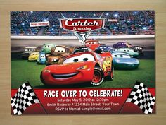 Disney Cars Birthday Invitation free template Time to Plan a