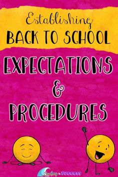 Getting ready to head back to school? Establishing clear expectations and procedures will lay the foundation for a calm productive year.  Start your year with strong classroom management.  Get your free list of classroom procedures.  Use these digital an