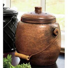 copper countertop compost pail google search