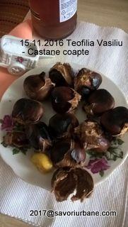 Castane coapte – cum se prepara acasa? Nu exista piata de Craciun din Europa unde sa nu fii imbiat cu aceste delicatese. La Istanbul se gasesc in tot timpul anului. Si la noi se faceau, pe vremuri. Batranii isi amintesc cu drag de castanele coapte invelite in cornete de hartie cafenie. ADVERTISEMENT - PUBLICITATE Castanele …