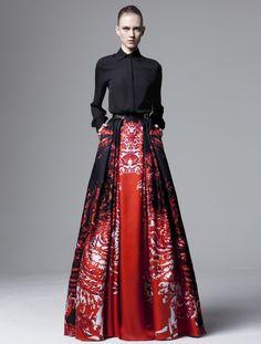 Вечерняя черная блуза от Zuhair Murad