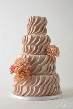 we ❤ this!  moncheribridals.com  #weddingcake #ruffleweddingcake
