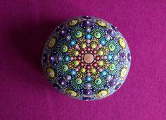 Mandala Stone, hand painted: