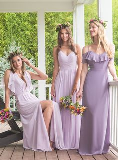 lavender and wisteria gowns