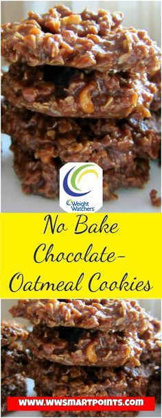 No Bake Chocolate-Oatmeal Cookies 4 weight watchers SmartPoints Per Serving